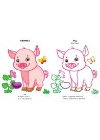 Домашние животные (4+). Посмотри и раскрась