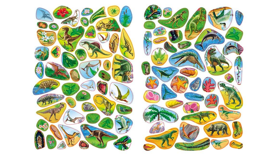 Динозаври. Розвивальні наліпки