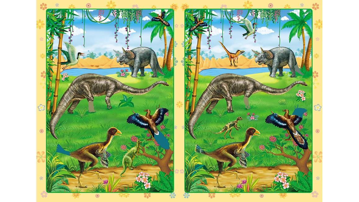 Динозавры. Развивающие наклейки