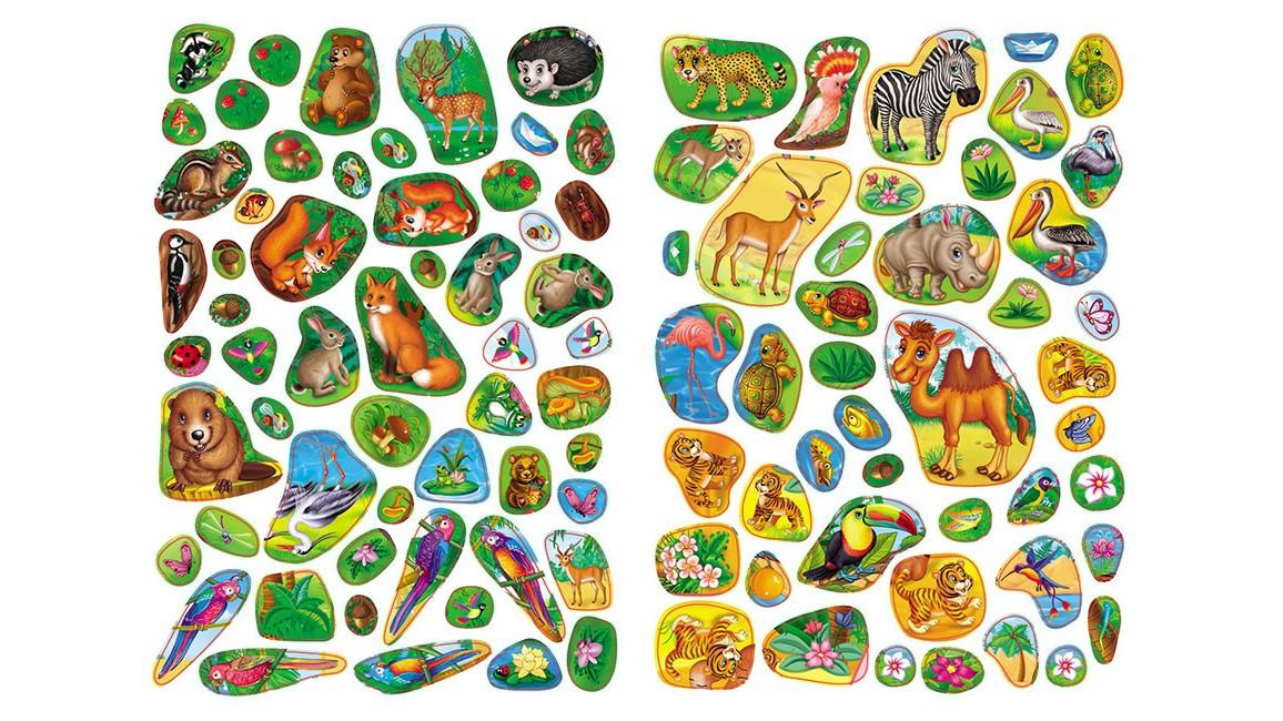 Любимые животные. Развивающие наклейки