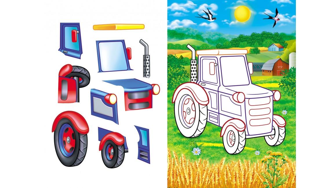 Аплікації для малят. Трактор
