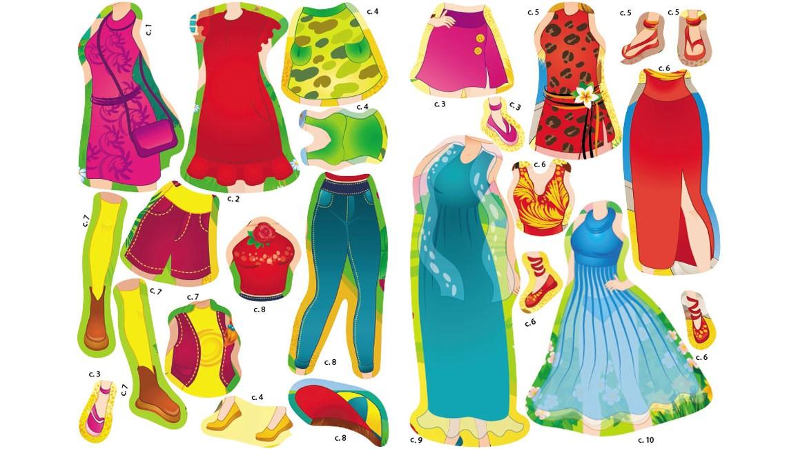 Одень куклу №3. Найди подходящую одежду и наклей