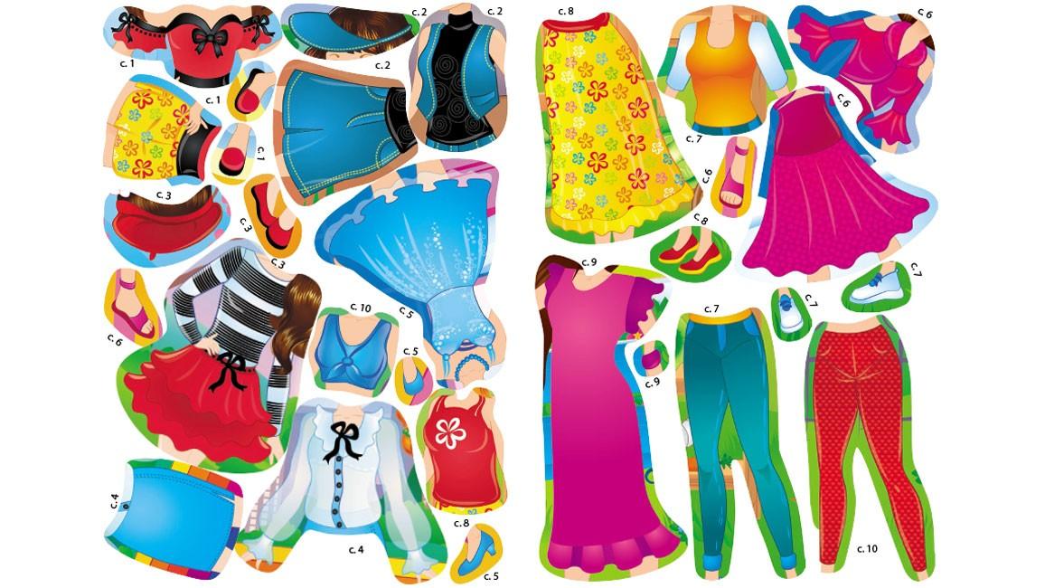 Одягни ляльку №5. Знайди відповідний одяг і наклей