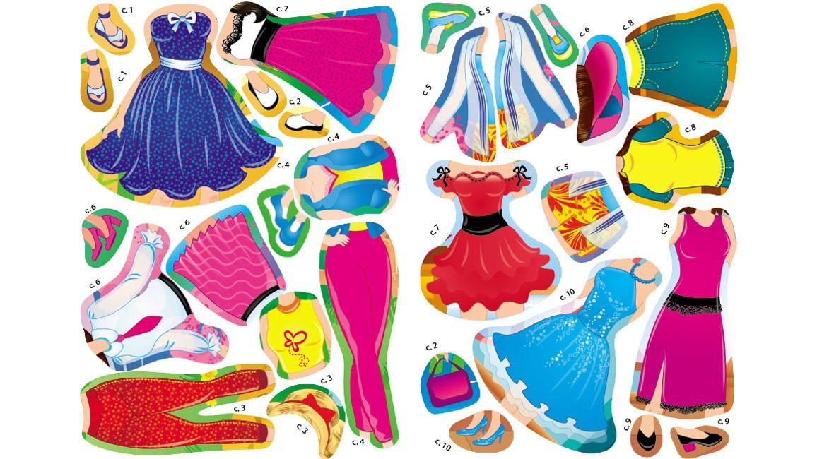 Одягни ляльку №6. Знайди відповідний одяг і наклей