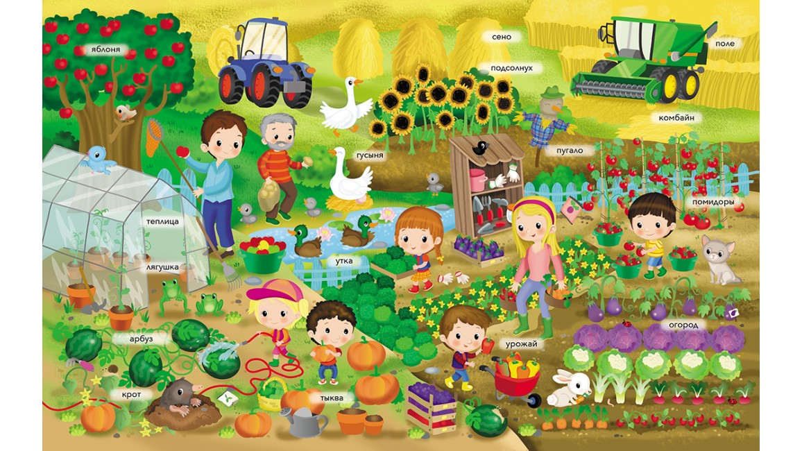 Ферма. Моя первая книга наклеек