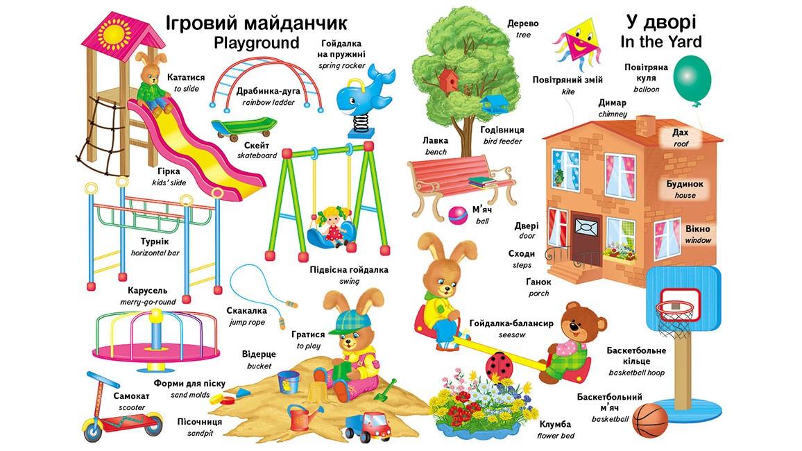 Перші слова малюка + англійська