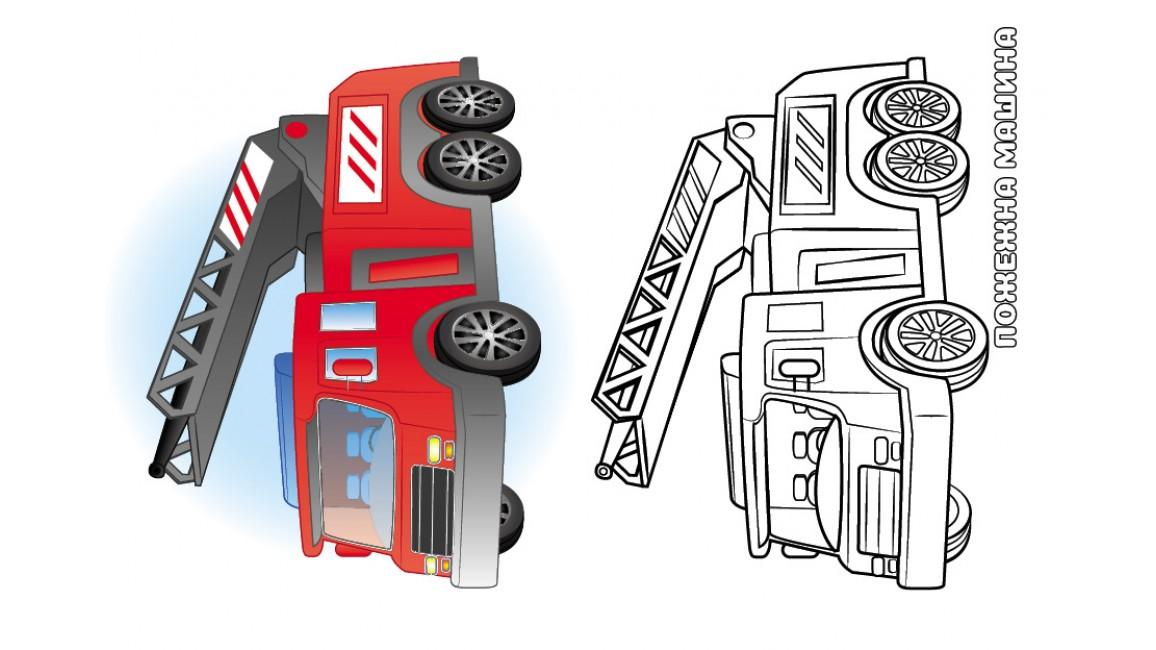 Машинки. Подивись та розфарбуй