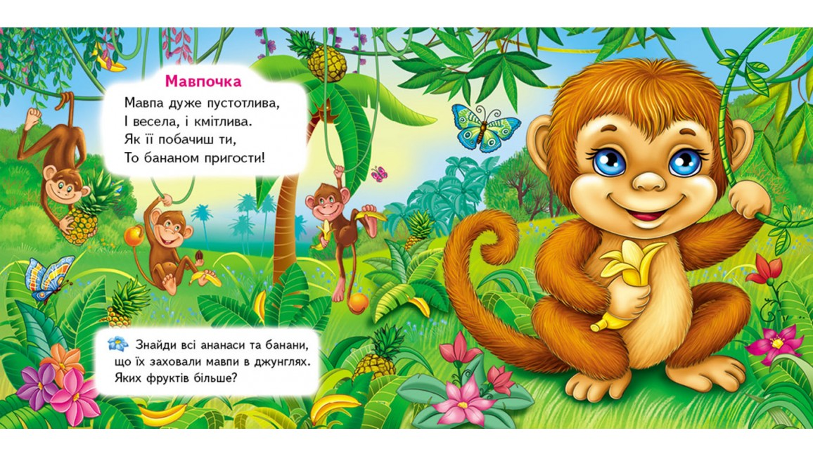Хто це? Мавпа. 5 пазлів різної складності
