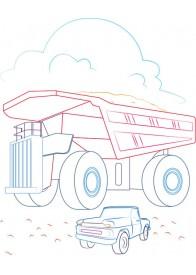 Розмальовка. Вантажівка