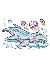 Водні розмальовки (дино)
