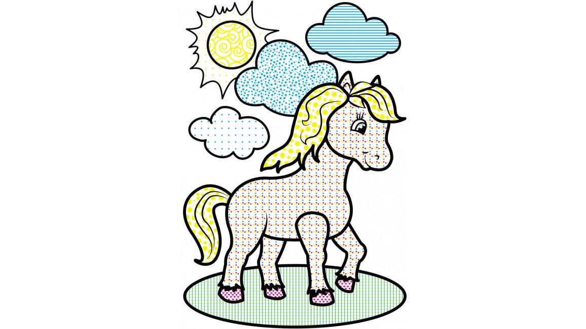 Водні розмальовки. Кінь