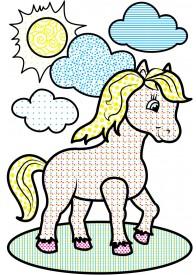 Водні розмальовки (кінь)