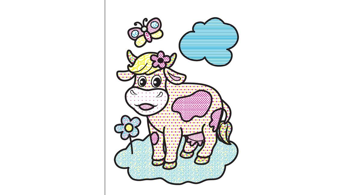 Водные раскраски. Корова