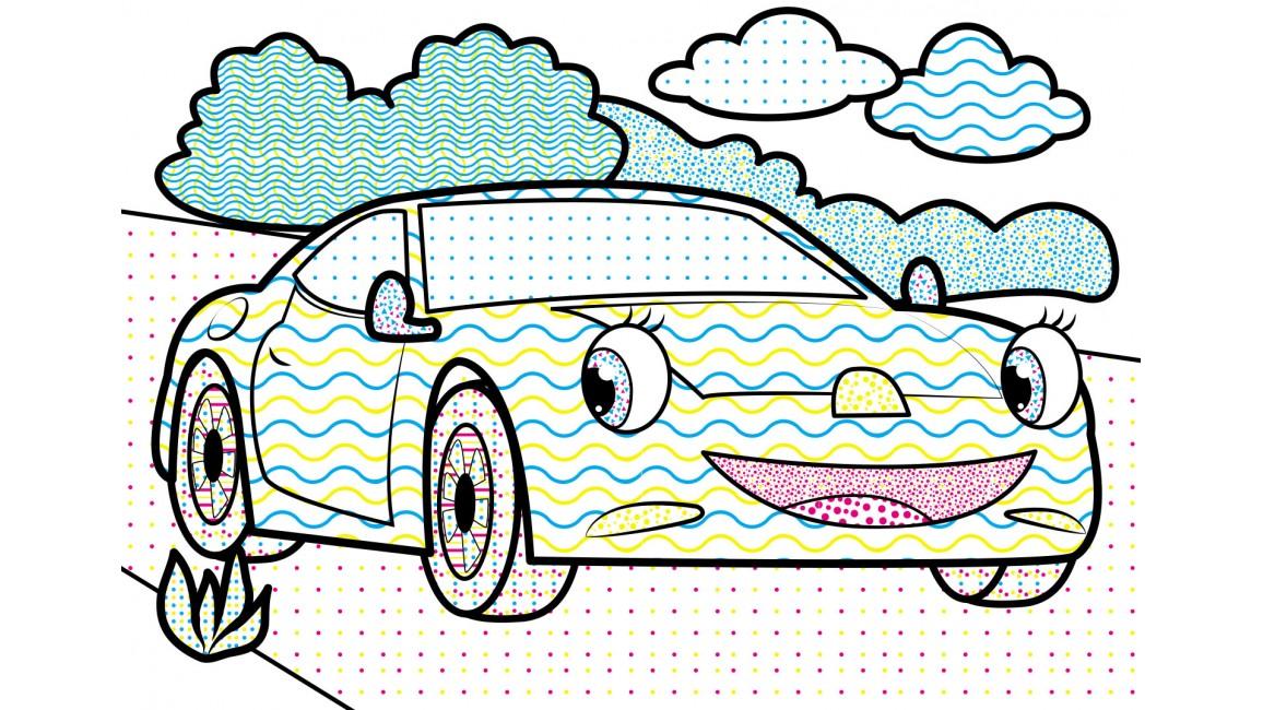 Водні розмальовки. Легкова машина