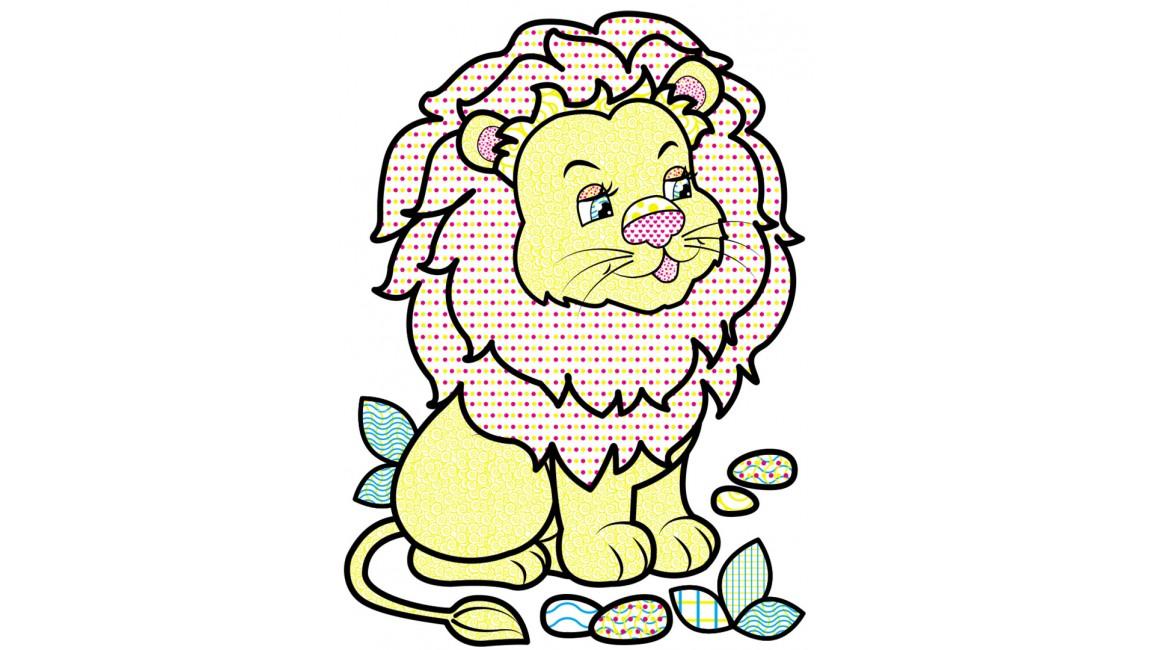 Водные раскраски. Лев