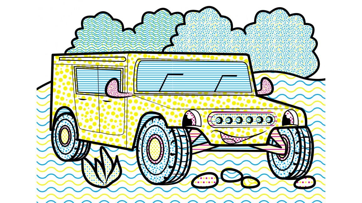 Водные раскраски. Пожарная машина