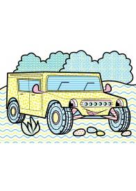 Водные раскраски (пожарная машина)