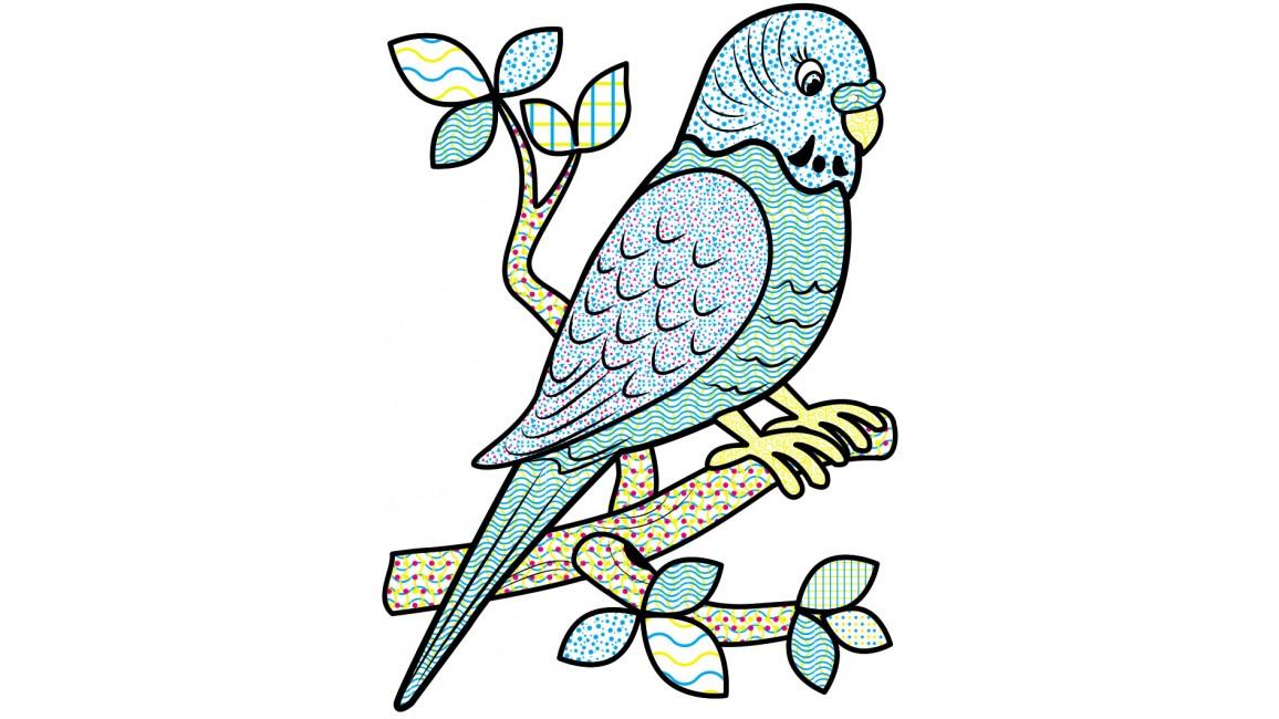 Водні розмальовки. Папуга