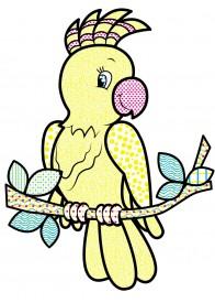 Водные раскраски (попугай)