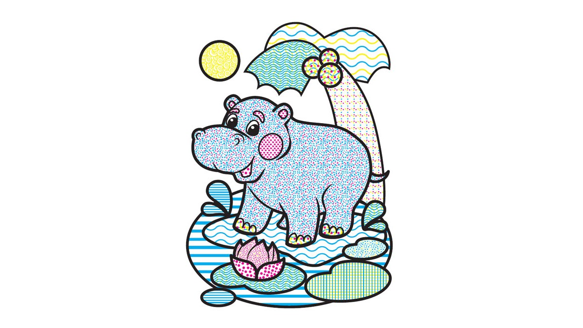 Водні розмальовки. Слон