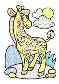Водные раскраски (слон)