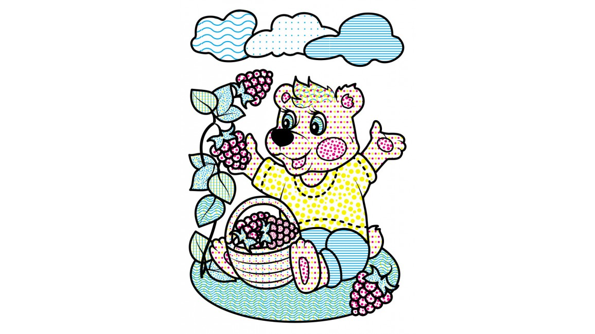 Водные раскраски. Медведь