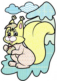 Водные раскраски (заяц)
